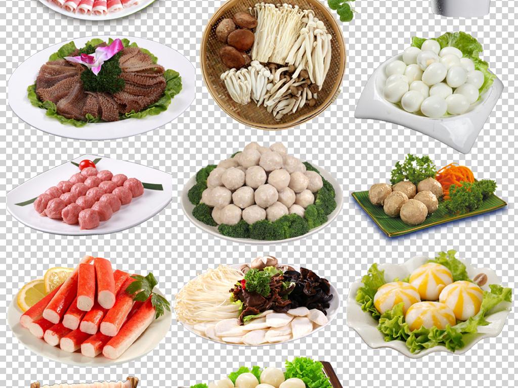 72款各种美味火锅食材肉类蔬菜png免扣素材