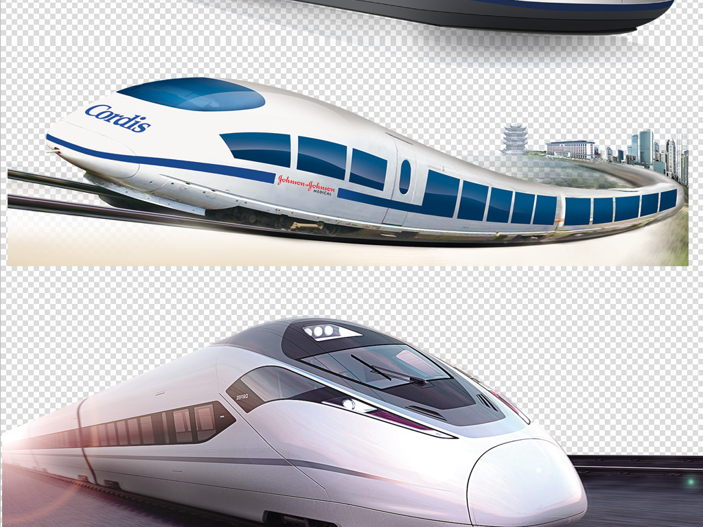 动车火车高铁透明高清大图素材png