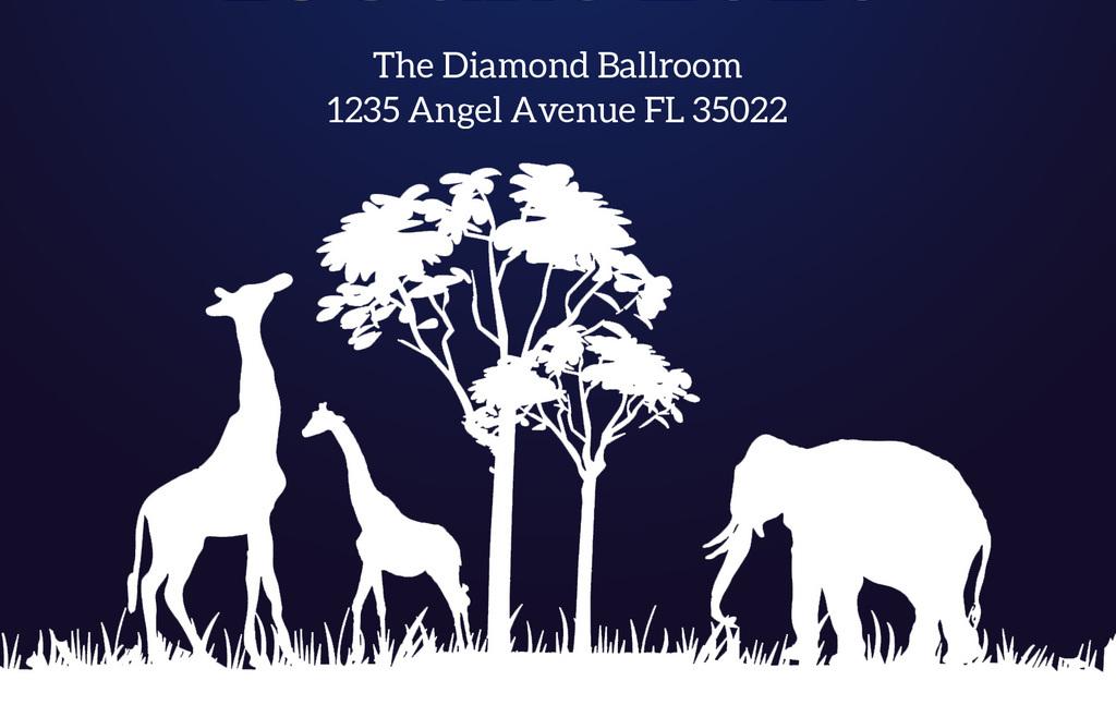 保护野生动物环保公益活动创意海报请柬模板图片