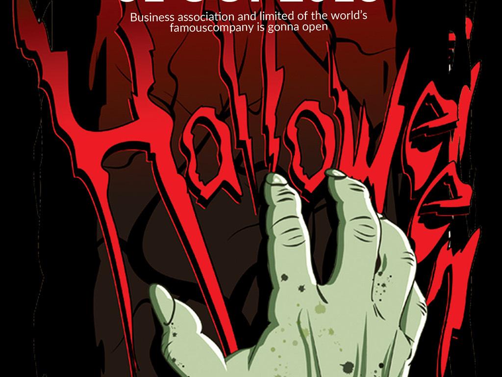海报设计 创意海报 国外创意海报 > 创意手绘卡通恶魔之手血腥万圣节