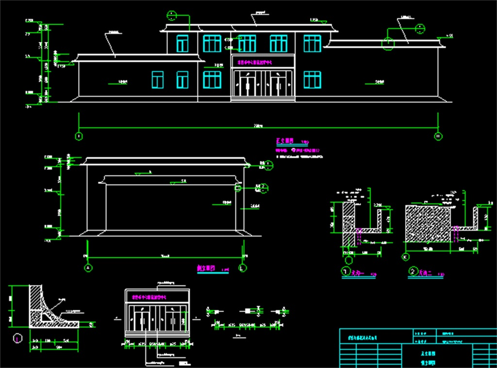 某中心医院机房cad结构图