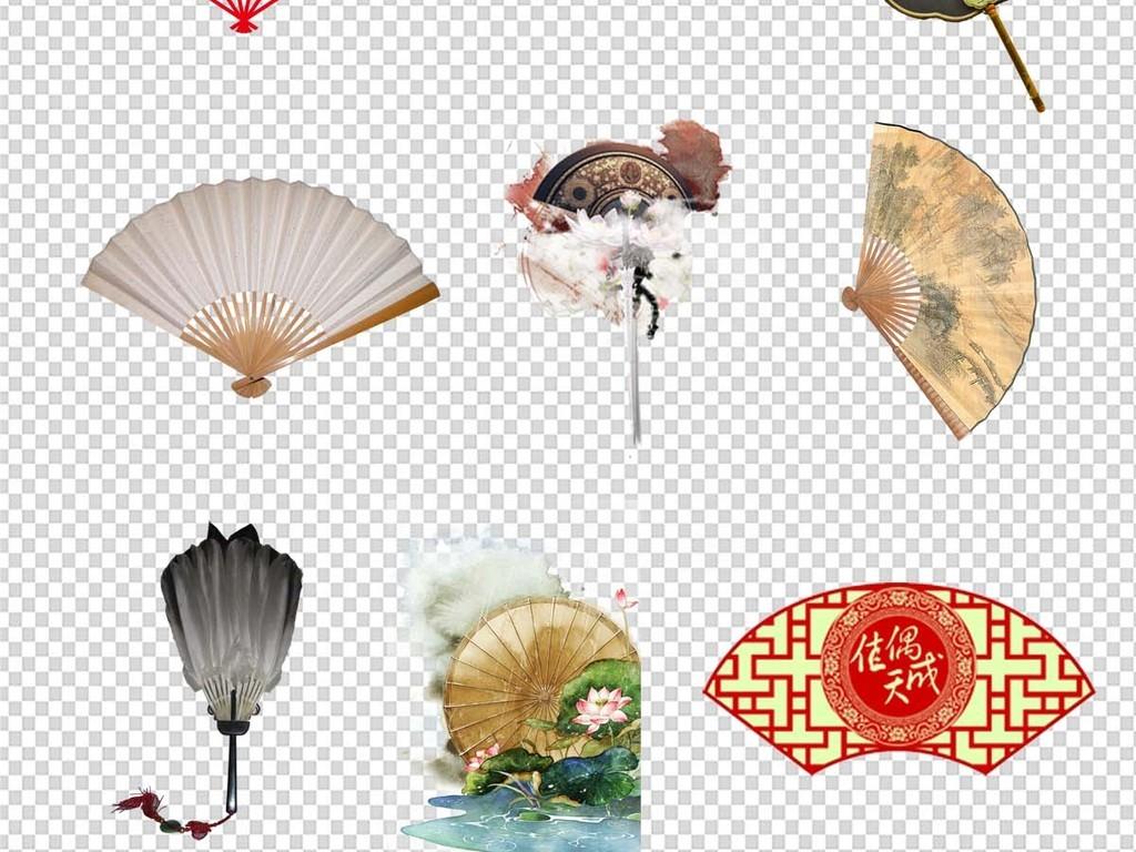 中国风扇子折扇图片png素材