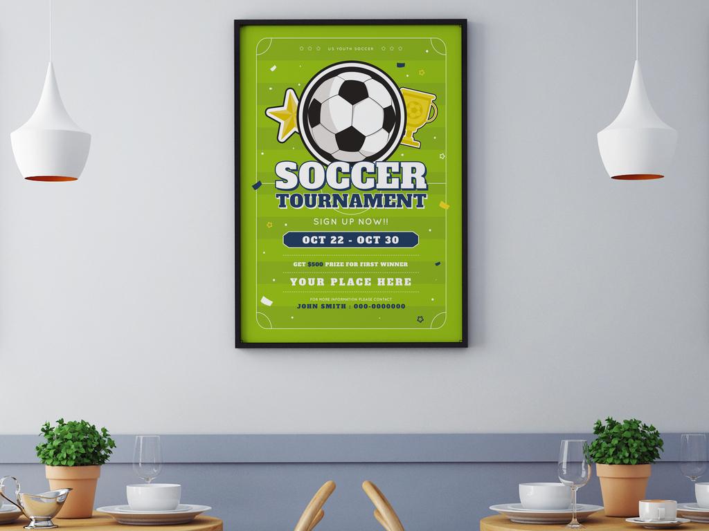 ai psd手绘足球俱乐部招新,足球比赛,校园足球社团招新海报模板