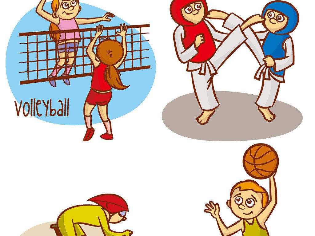 卡通儿童运动海报背景图