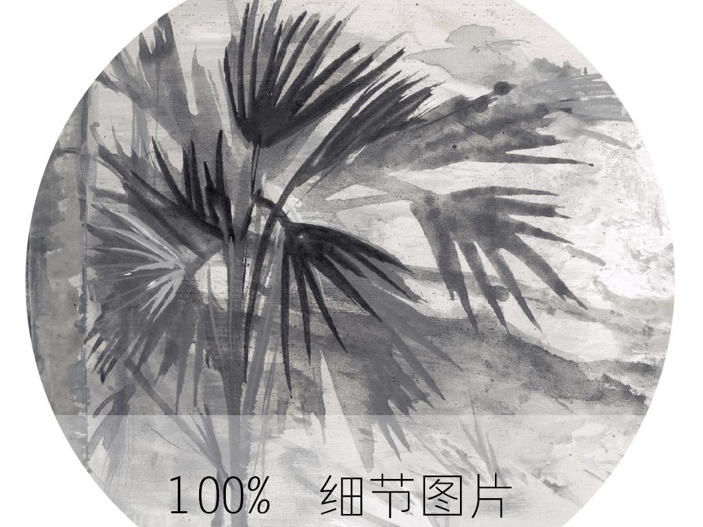 欧式手绘西洋画丛林背景墙装饰画
