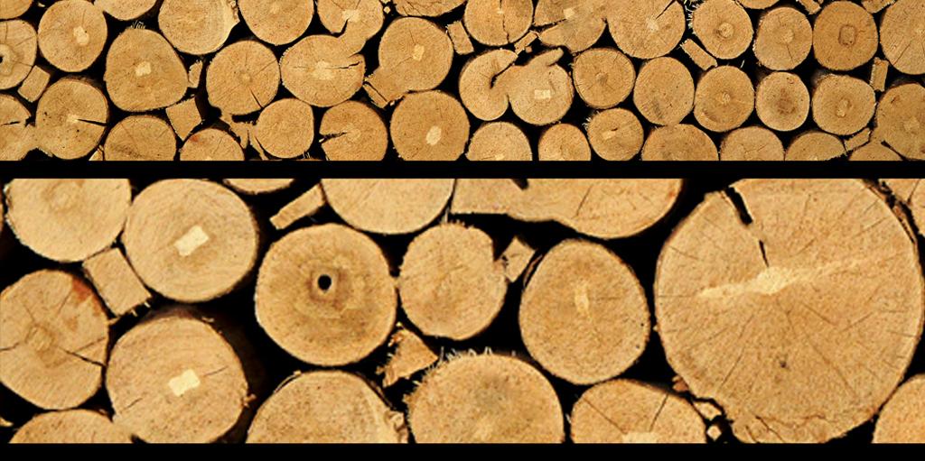 木桩背景墙