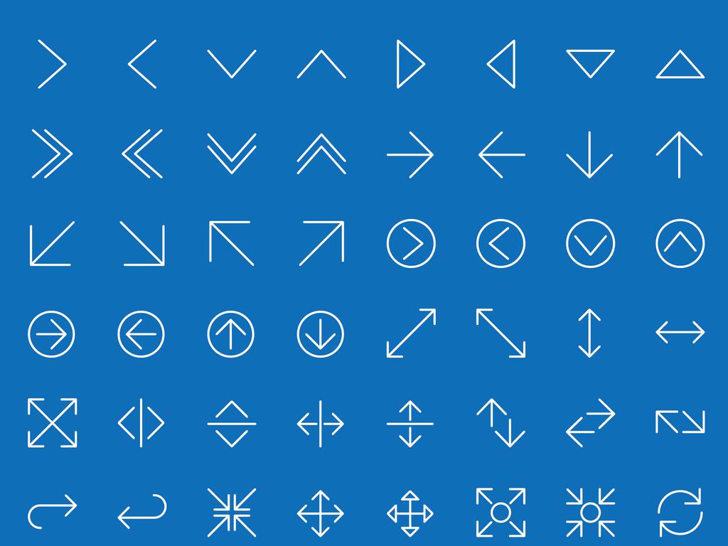 017简约线条箭头合集网页小图标矢量素材图片下载ai素材 图标