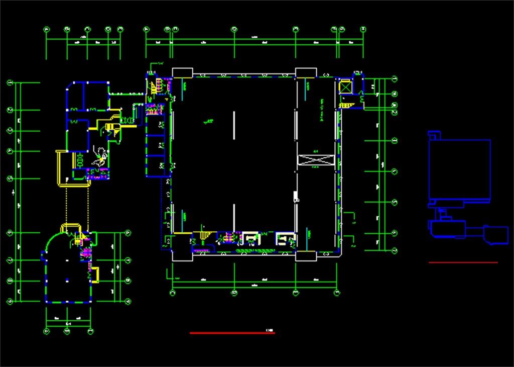 办公楼CAD建筑施工图纸
