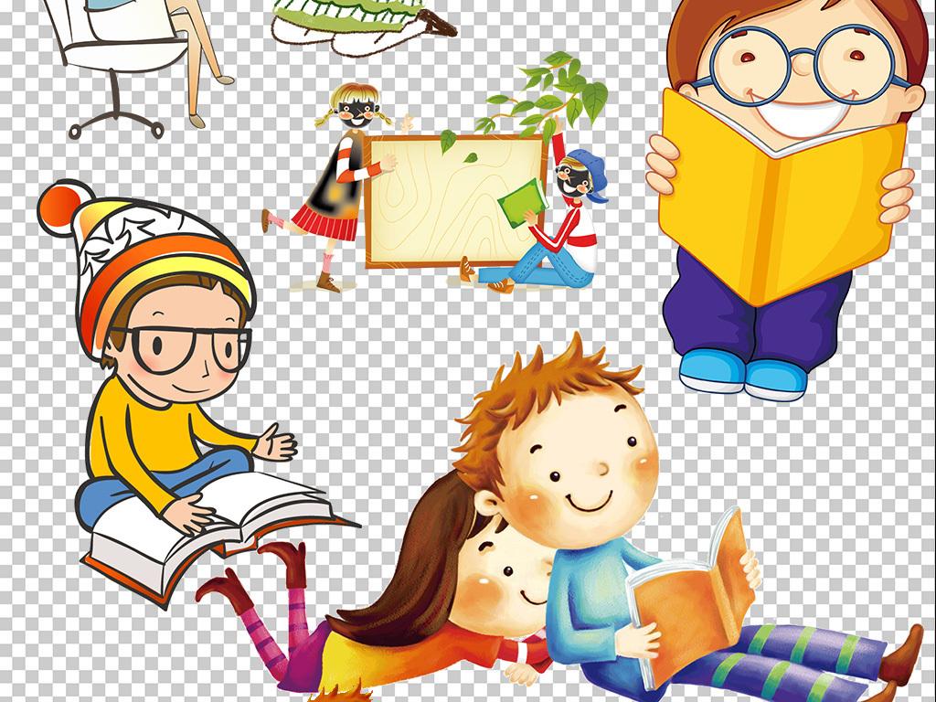 60余款卡通儿童小学生幼儿学习素材png免抠素材大全