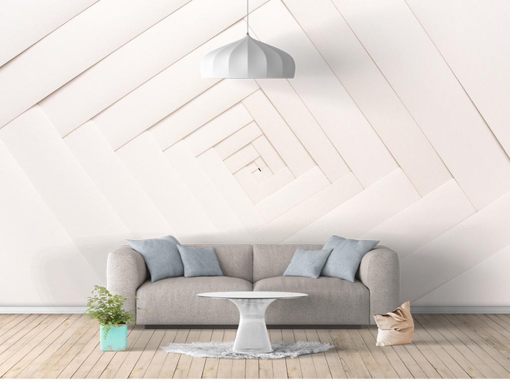 几何图形立体感北欧背景墙图片