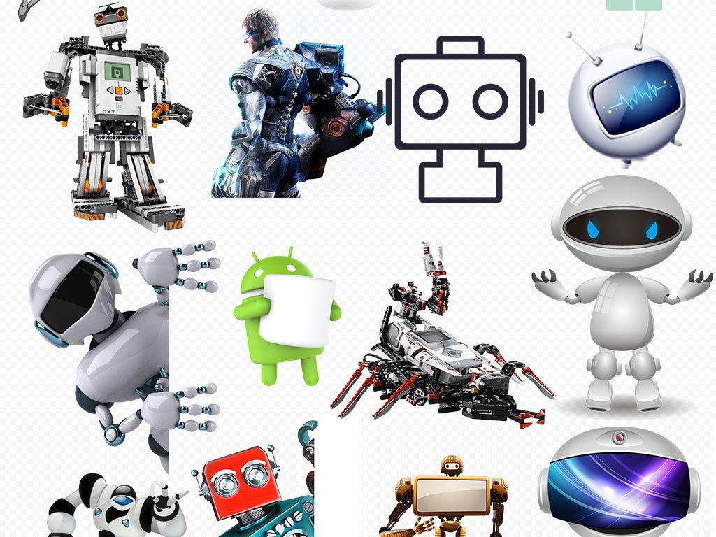素材手绘机器人图标乐高机器人素材3d机器人总动员高科技产品钢铁侠