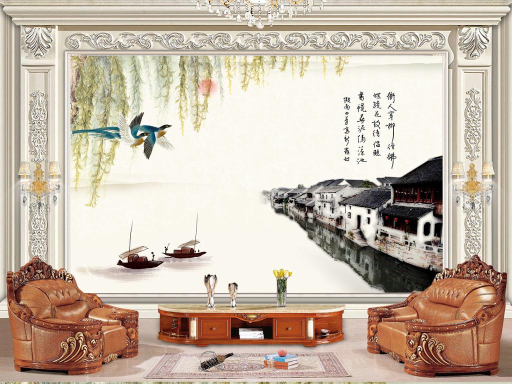 背景墙|装饰画 电视背景墙 中式电视背景墙 > 烟花三月下扬州  素材