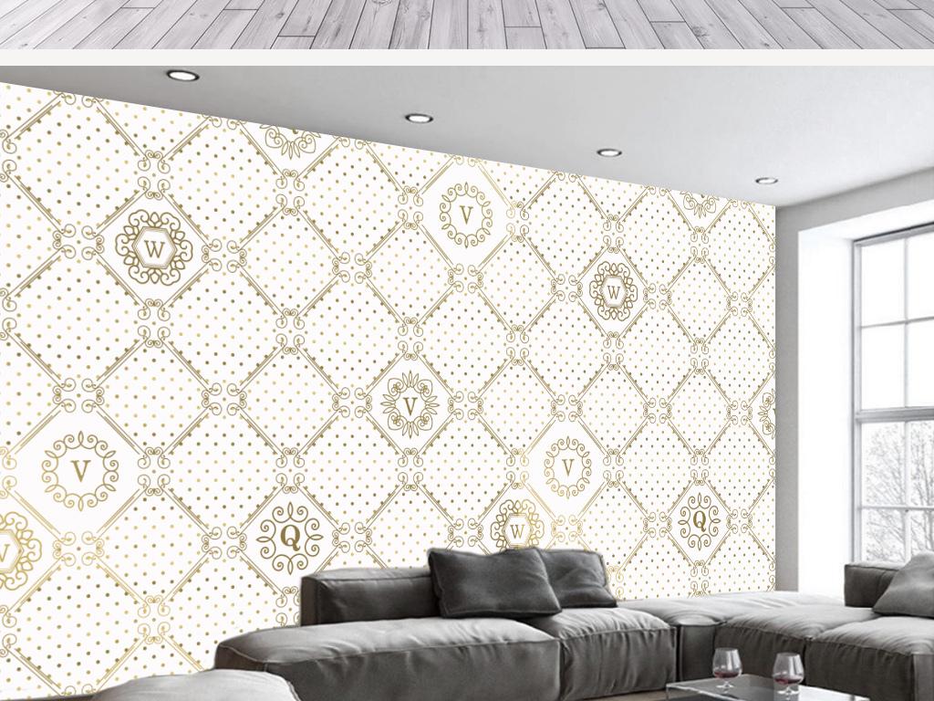 背景墙 电视背景墙 手绘电视背景墙 > 欧式古典风格几何工业风背景墙