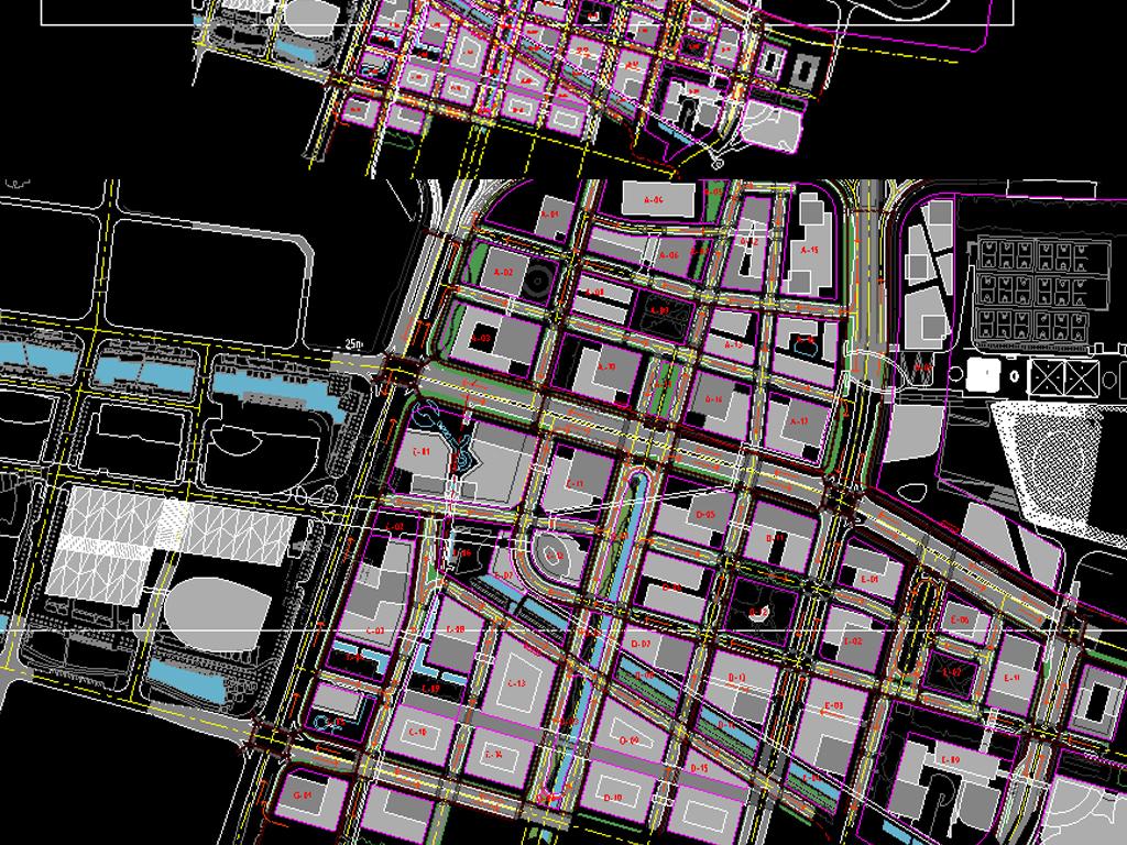 科技馆CAD全套平面规划图平面设计图下载 图片17.37MB CAD图纸大
