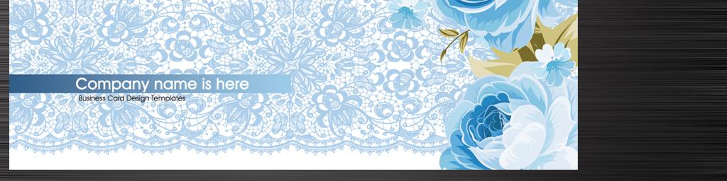 水彩手绘蓝玫瑰花店服装纺织行业名片