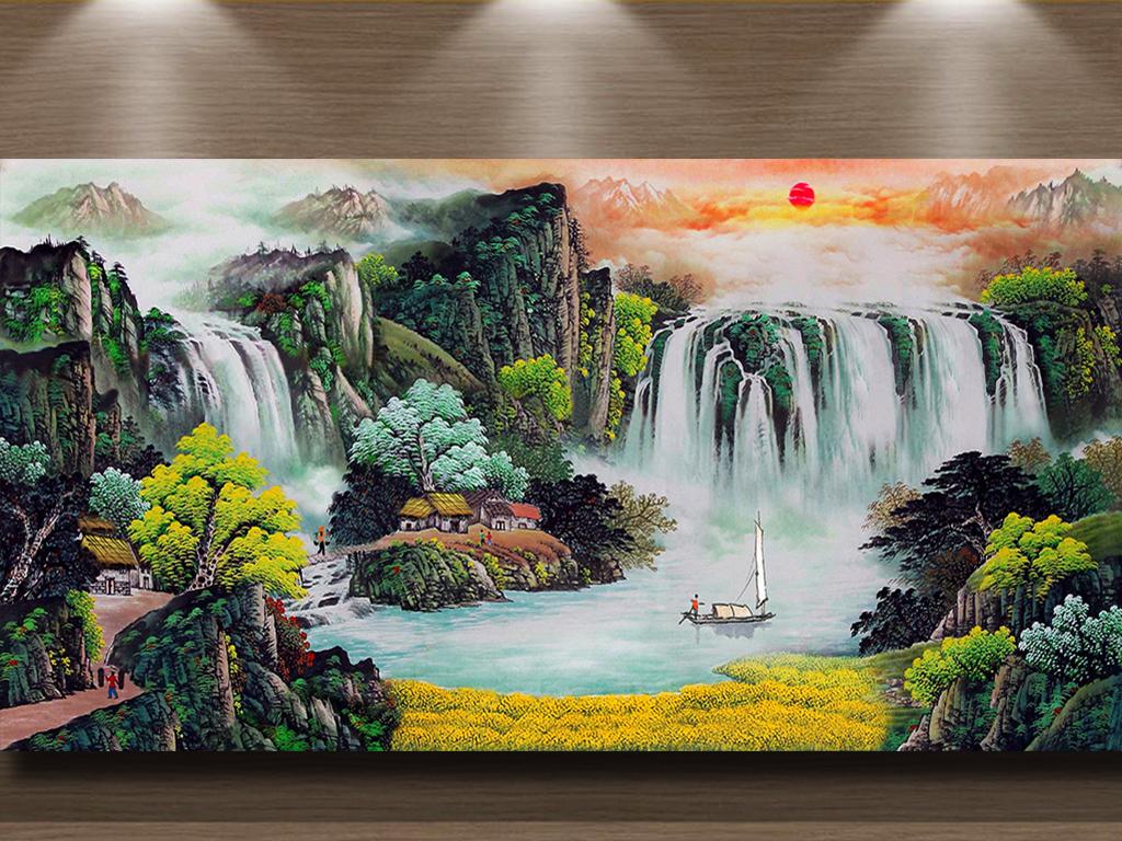 聚财风水画 17177153 山水风景画