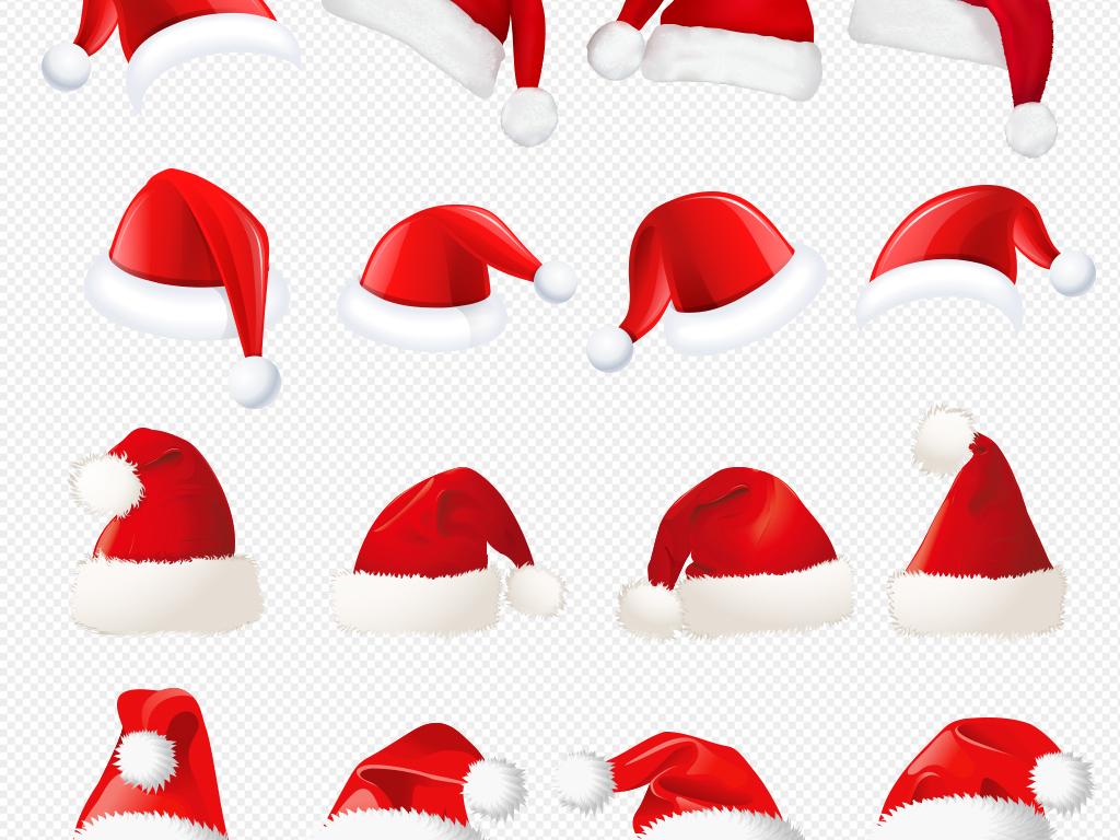 卡通圣诞节圣诞帽圣诞海报装修素材图片下载png素材 其他图片