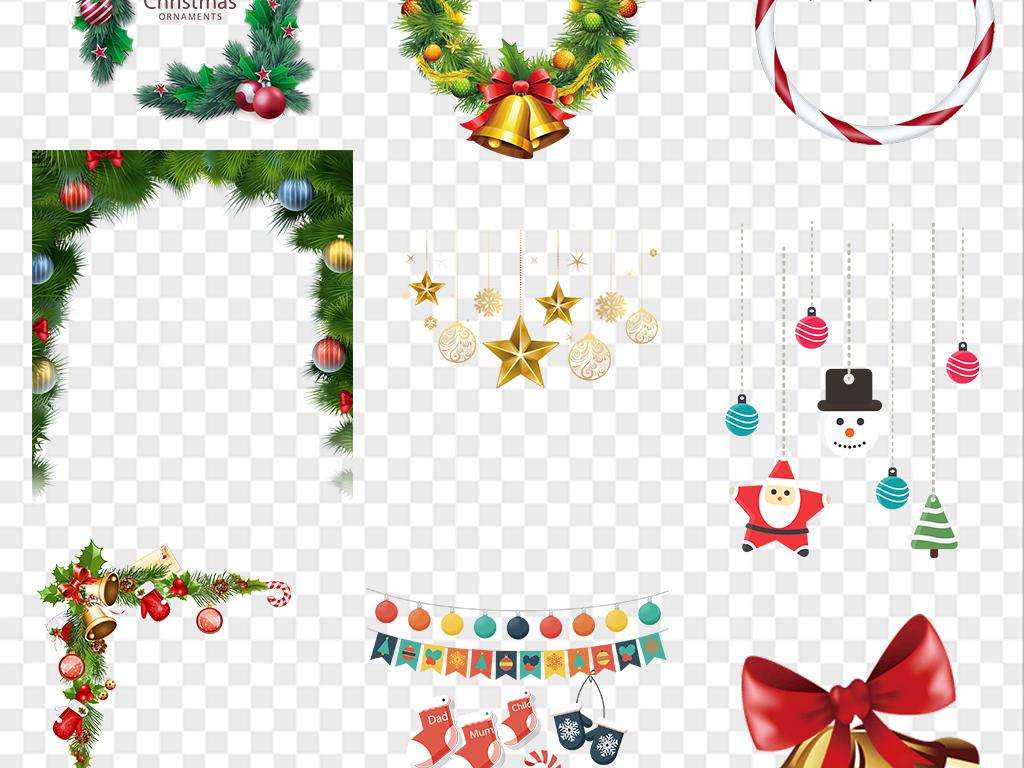 圣诞树圣诞老人圣诞帽雪人挂饰球装饰素材图片 模板下载 45.79MB 圣图片