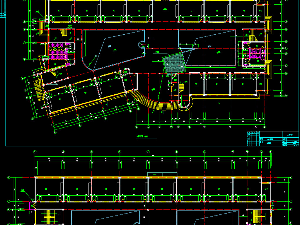 平面图教学楼cad规划图教学楼cad建筑装修图教学楼cad施工图教学楼