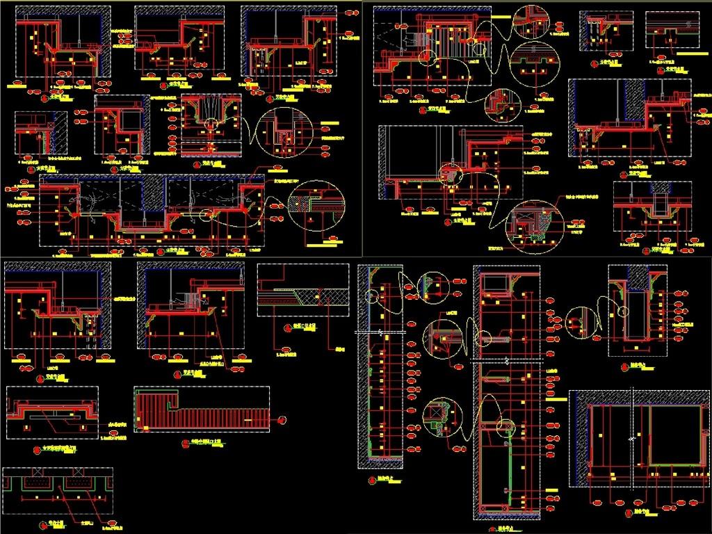 别墅室内设计全套施工图CAD