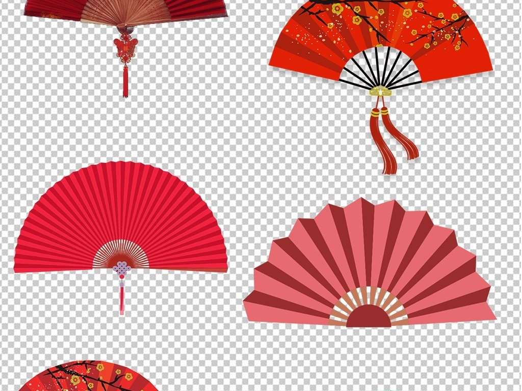 古风古典中国风扇子折扇图片png素材
