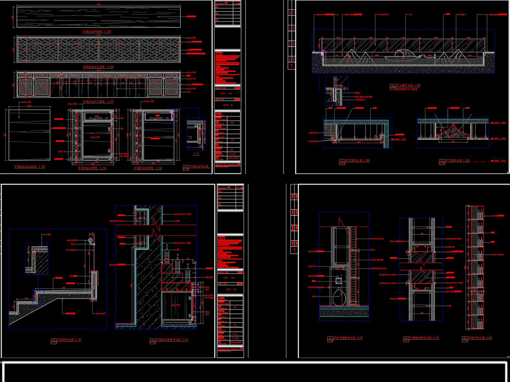 全套中式餐厅CAD施工图效果图