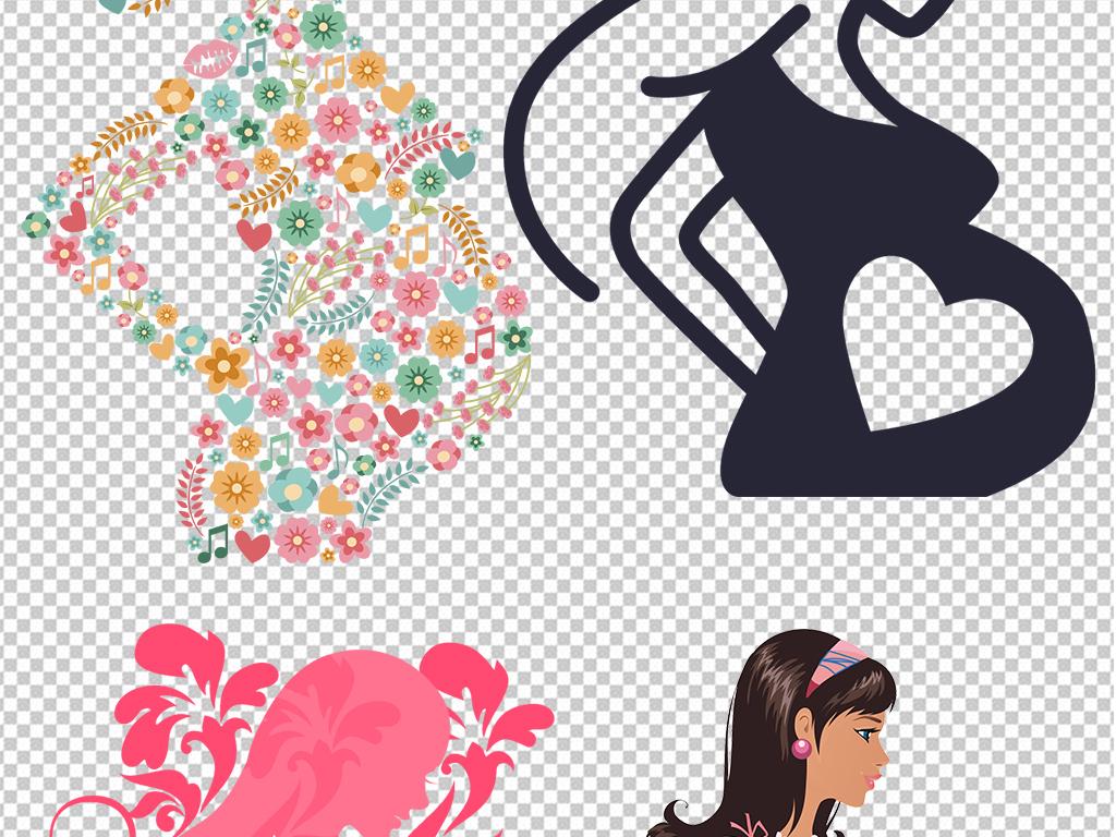 免抠元素 人物形象 美女 > 手绘卡通怀孕孕妇女人图片海报png素材  素