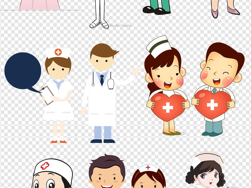 卡通医院护士医生医疗设计素材