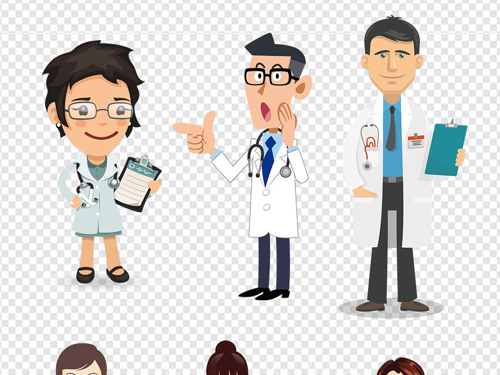 卡通形象女医生护士帽医生卡通图片护士展板爱心医生护士医疗卡通医院图片