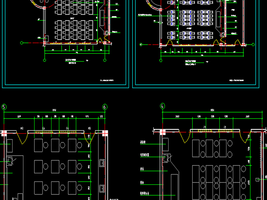 教学楼 教室布置CAD平面图
