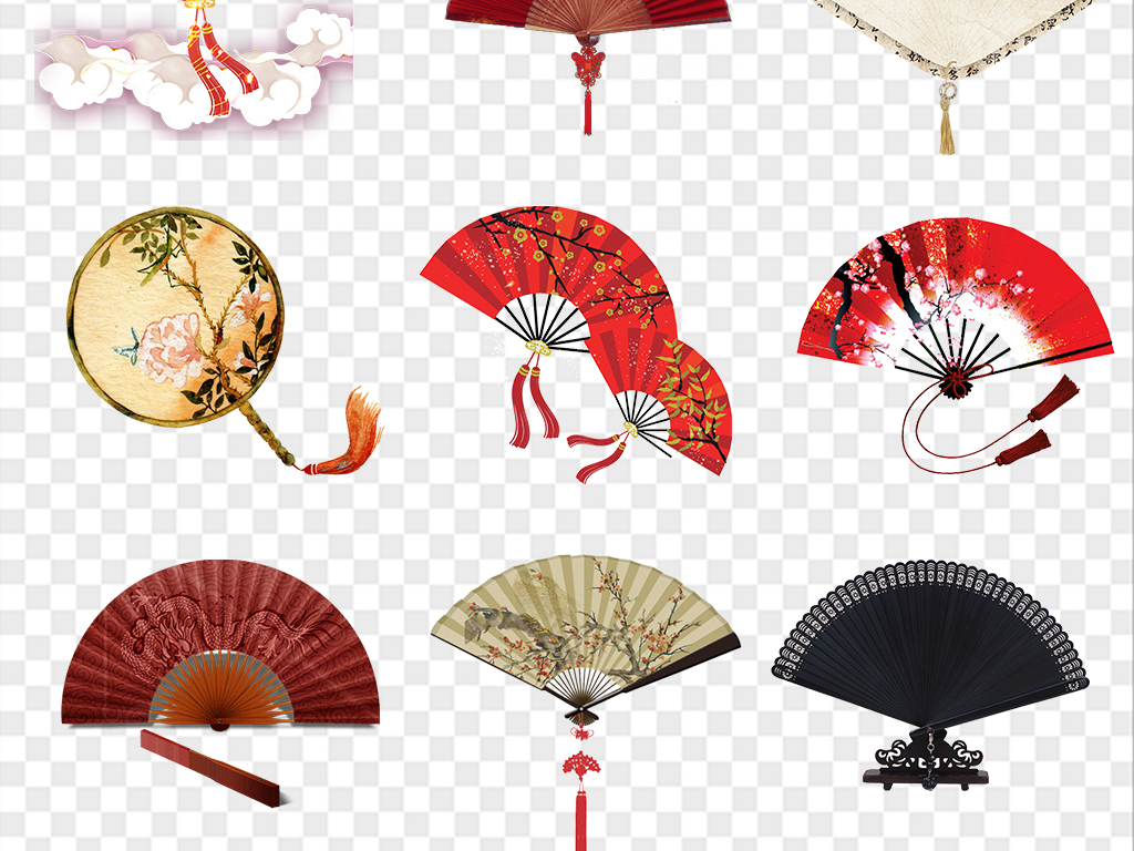中国风扇子图片素材