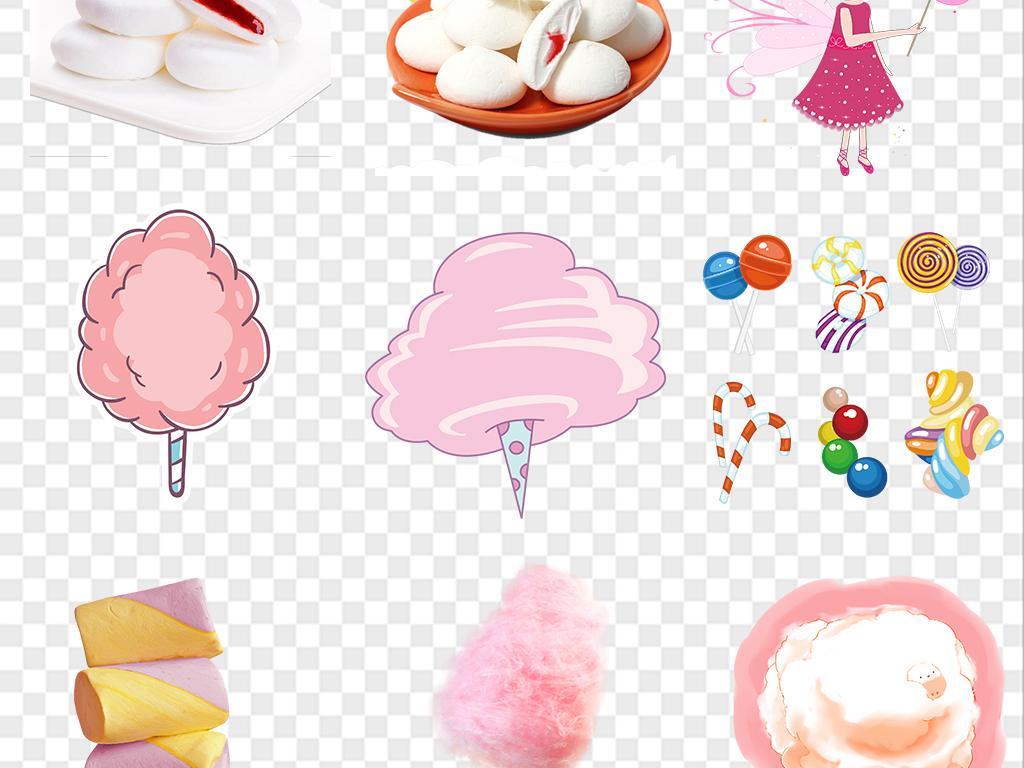 卡通可爱棉花糖糖果png免扣素材