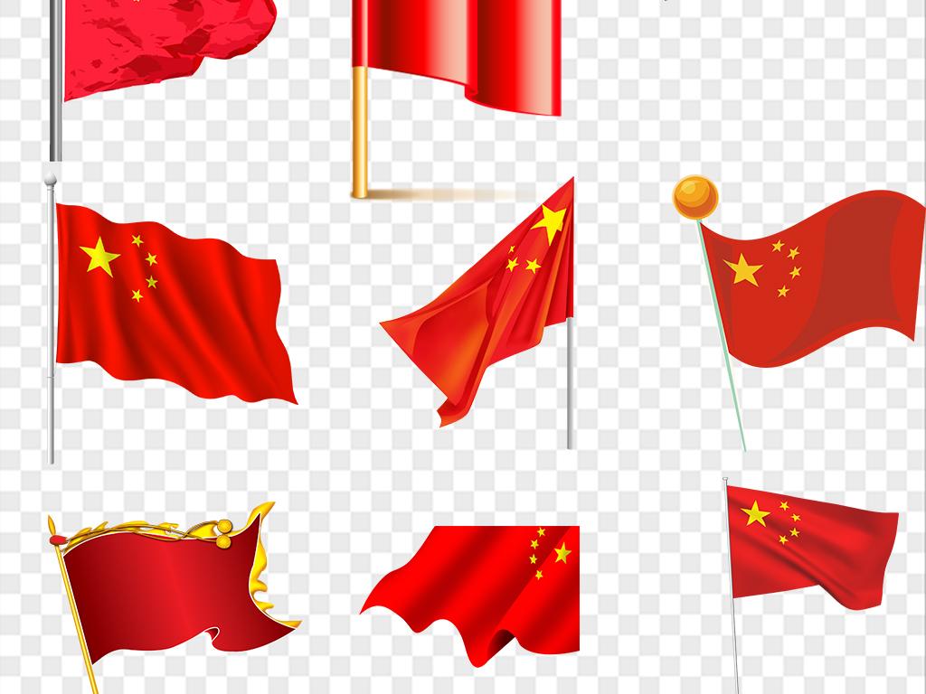 中国国旗红旗背景素材图片