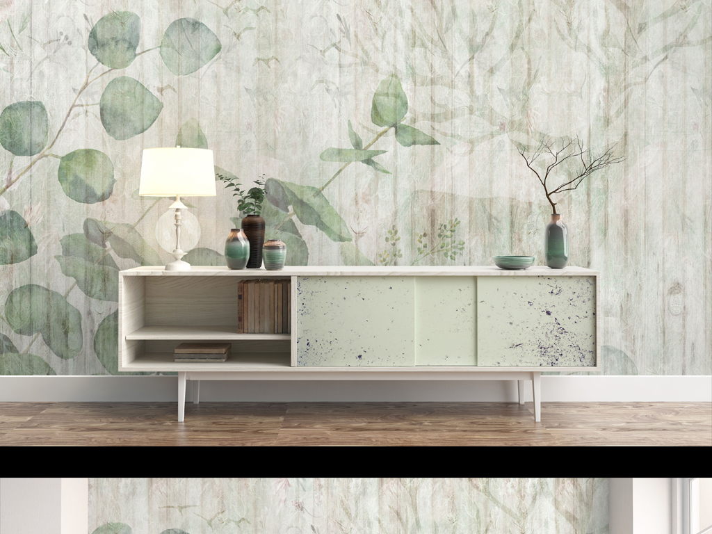 背景墙 电视背景墙 手绘电视背景墙 > 高清简约小清新北欧风格植物