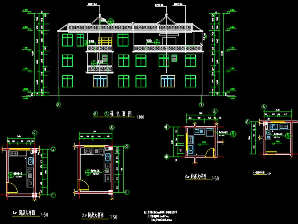 别墅CAD建筑全套施工图平面设计图下载 1.62MB CAD图纸大全 室内