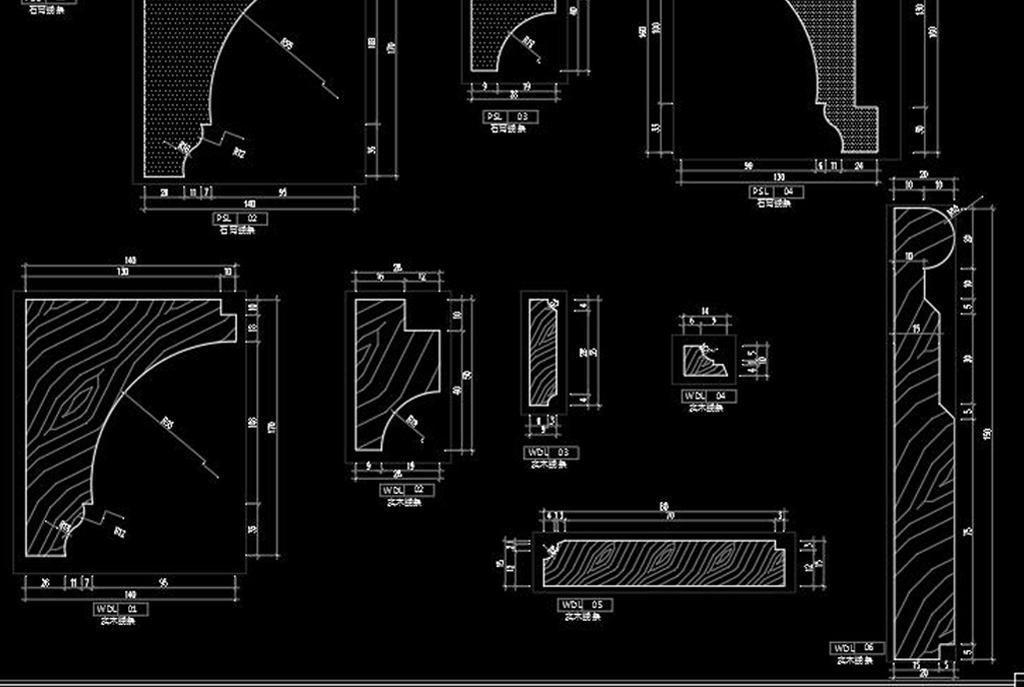 全套法式别墅样板间cad施工图实景图