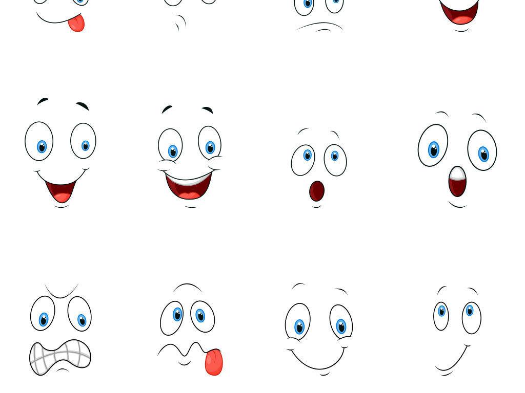 卡通手绘可爱卖萌表情背景素材