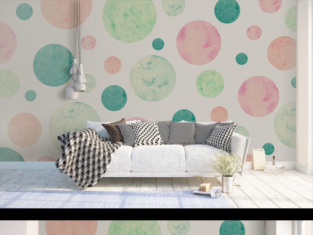 背景墙|装饰画 电视背景墙 手绘电视背景墙 > 高清简约格波点北欧风格