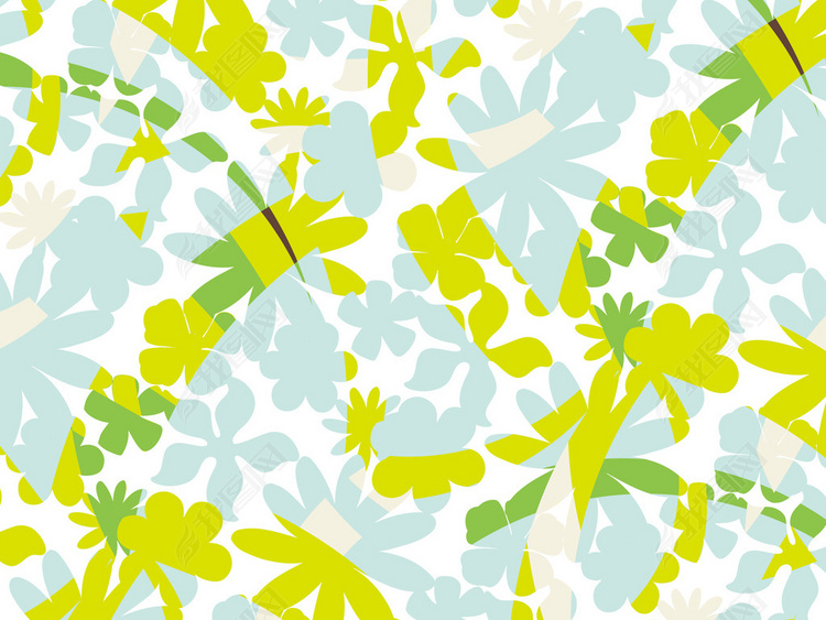 植物花卉花纹大花无缝印花图案