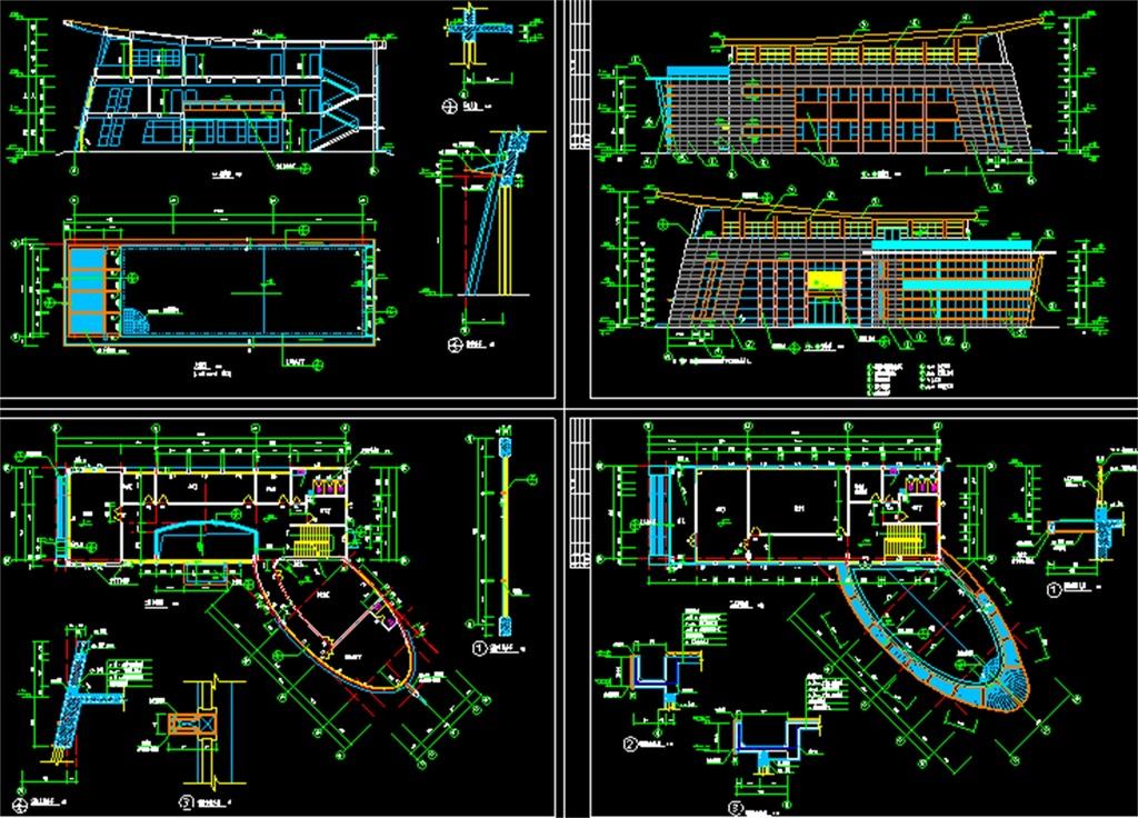 办公楼CAD建筑施工设计图纸