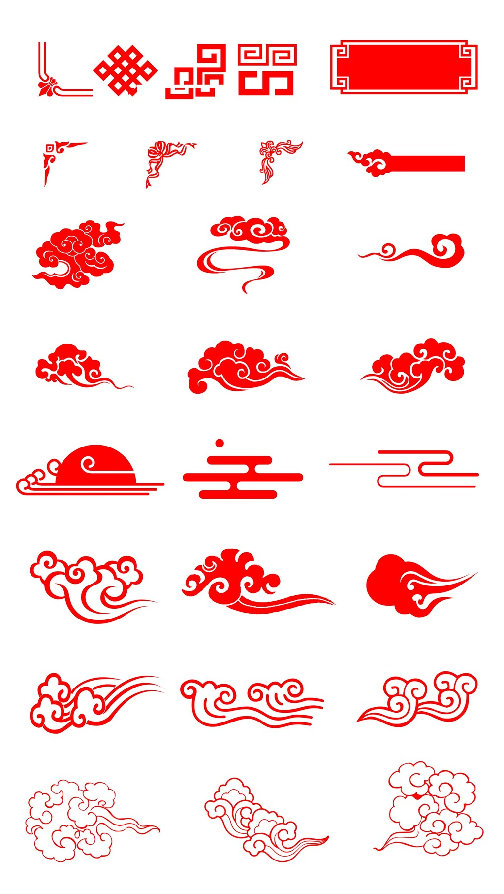 中国风祥云柱素材