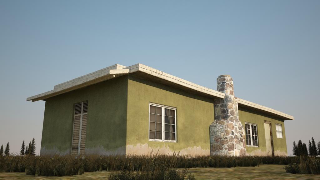 普通的平房房子3D模型图片下载max素材 其他模型