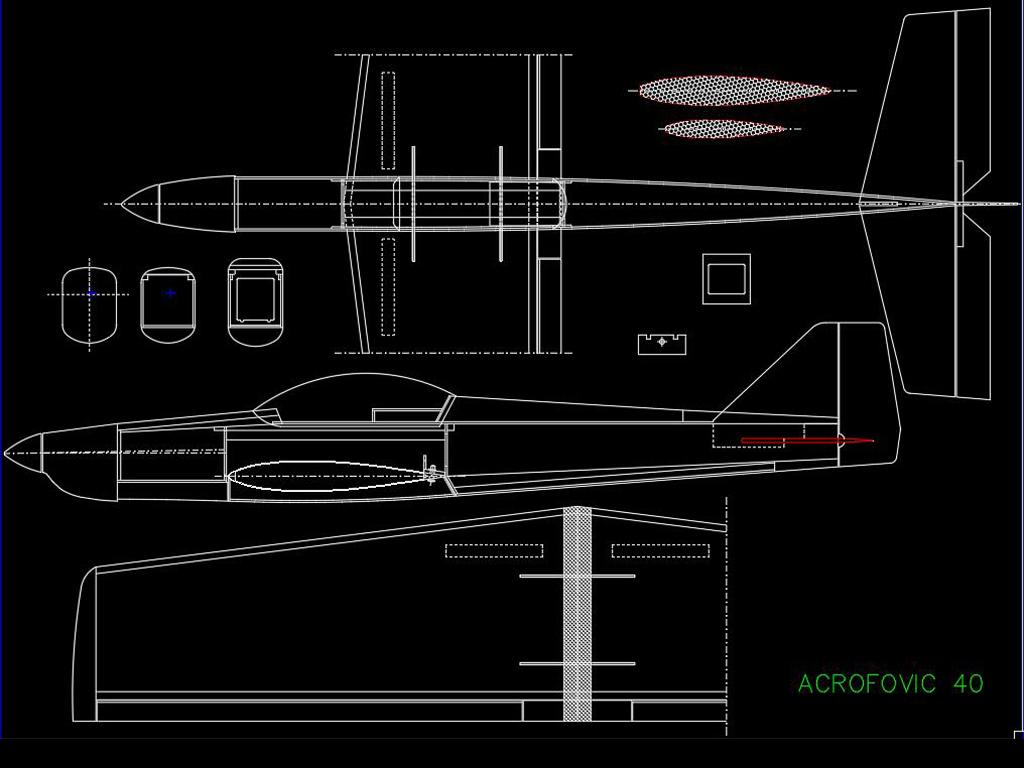 352套飞机航模零件cad图纸平面设计图下载(图片51.95)