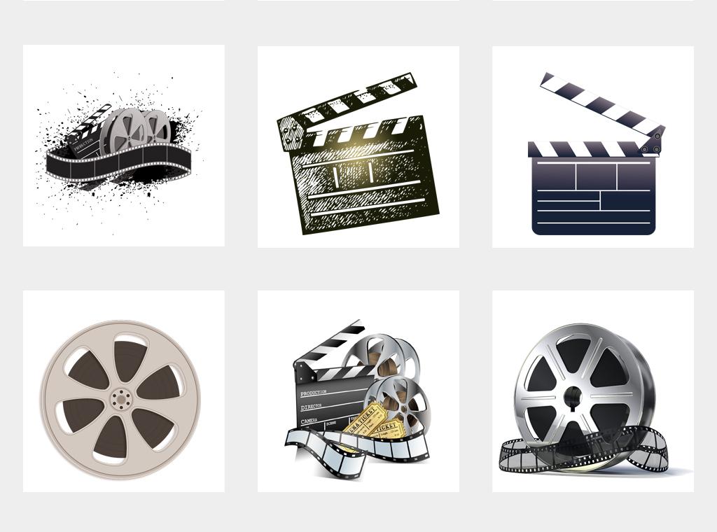 国际电影节打板器电影胶带胶片海报素材