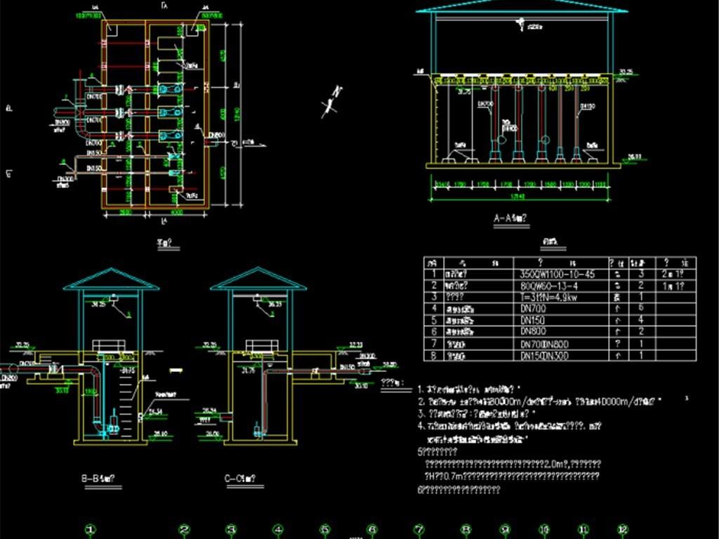 某污水处理厂工程设计cad图纸