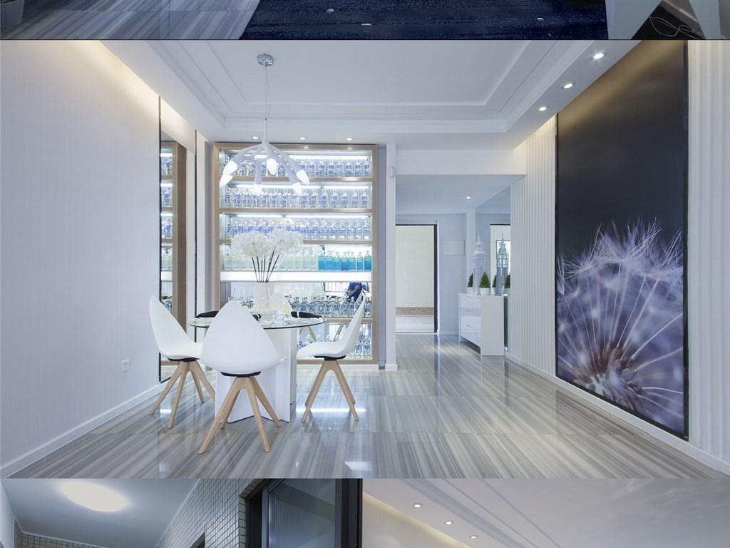 混搭风格北欧风格工业客厅卧室装修家装图