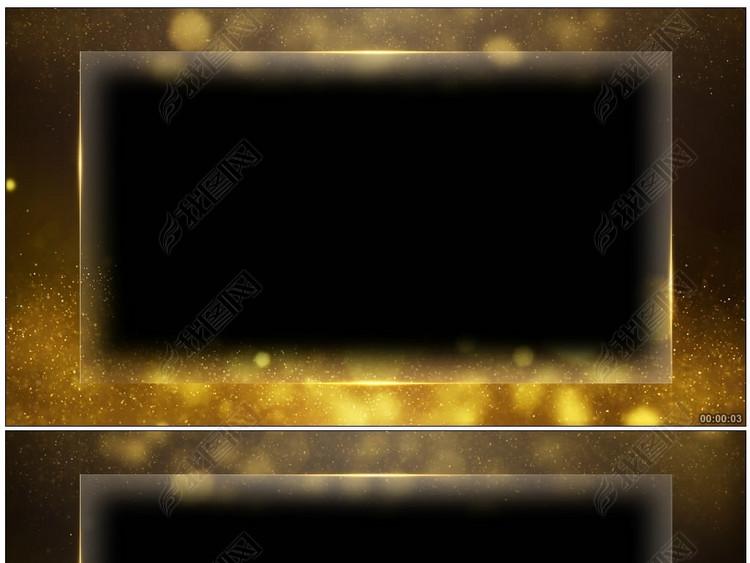 玻璃边框颁奖晚会人物宣传报道透明通道视频