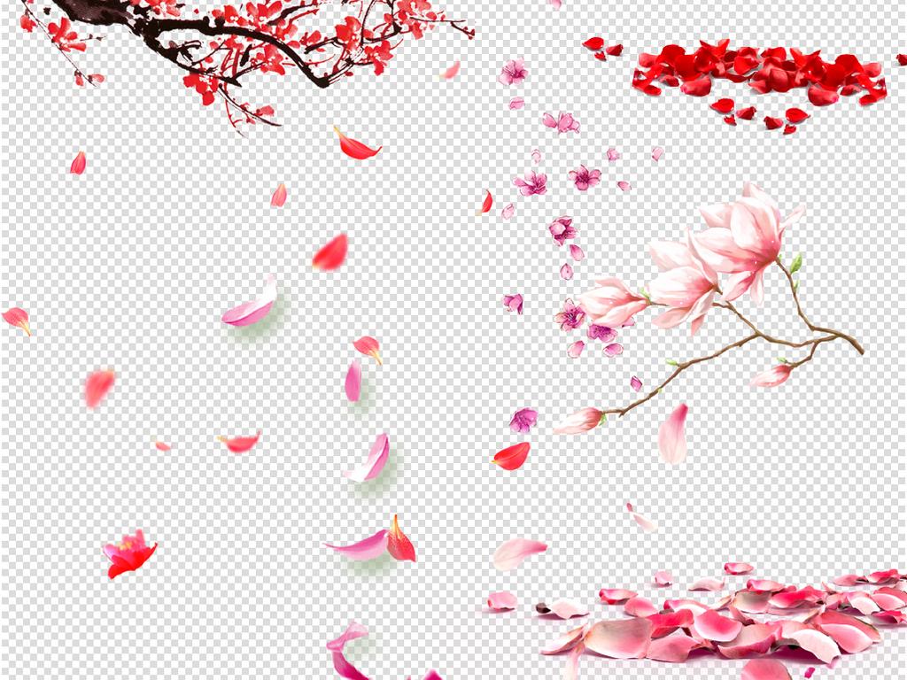 花瓣飘落桃花樱花png图片素材 模板下载 47.49MB 其他大全 背景