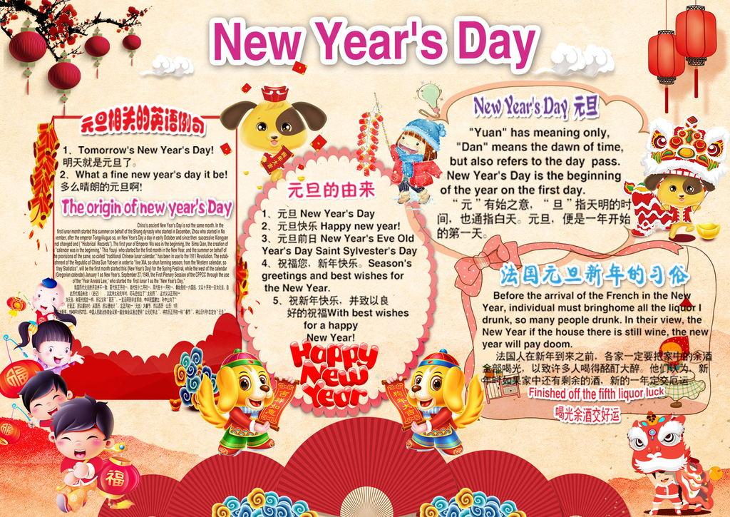 2018春节新年习俗拜年英语