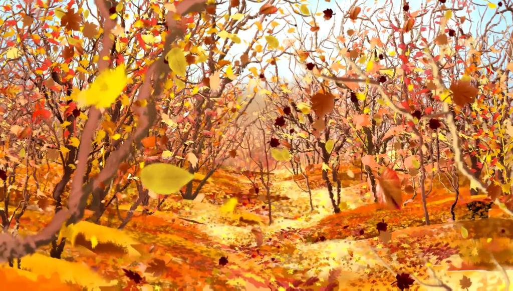 深秋枫叶枫树林树叶飘落秋天收获的季节模板素材 高清格式下载 视频